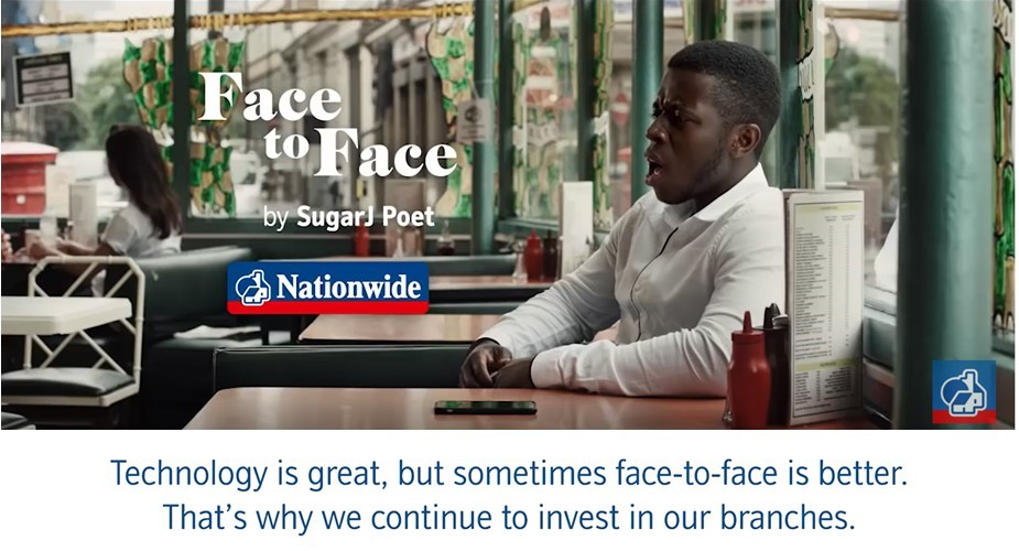 Still from the latest Nationwide TV campaign