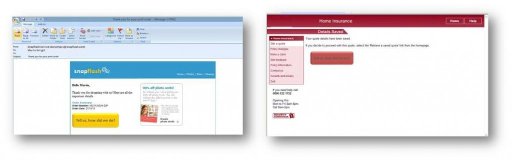 Cut and paste our bespoke tracking links into your standard service emails, web pages or text messages